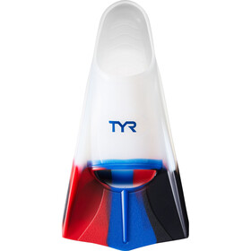 TYR Stryker Silicone Fins XXL, currant navy/red/clear